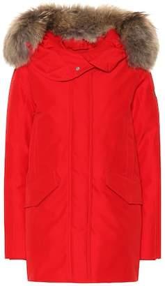 Woolrich Saranac fur-trimmed down parka