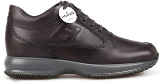 Hogan Interactive Faded Black Leather Sneakers