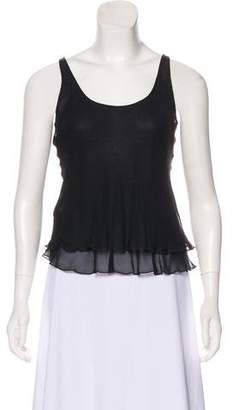 Armani Collezioni Sleeveless Scoop Neck Top w/ Tags