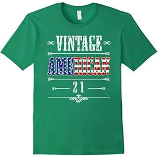21st birthday gift proud vintage American bday t shirt