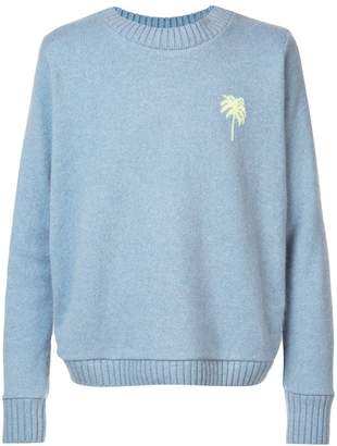 The Elder Statesman cashmere Palm Tree jumper