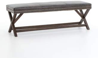 Pottery Barn Aldrich Leather Bench