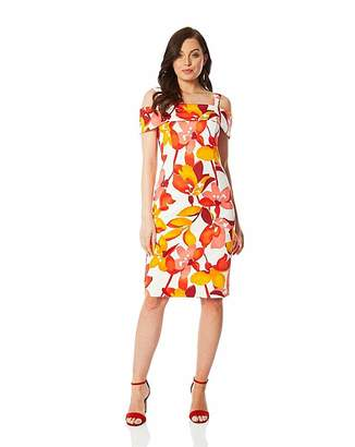 216ab27bd4ea Bardot Roman Originals Roman Floral Print Scuba Dress