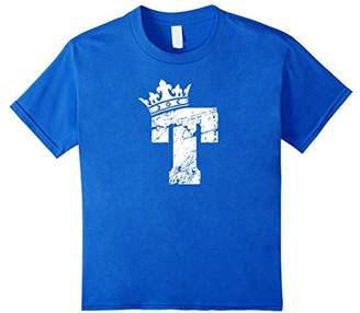 Alphabet T Shirt- Initial Letter T And King Queen Crown Tee