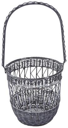 One Kings Lane Vintage Antique Wire Basket Cachepot - Vermilion Designs
