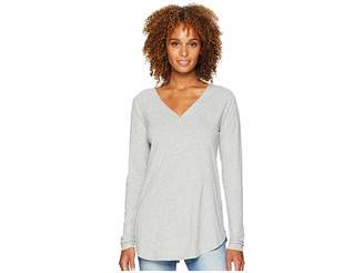 Mod-o-doc Classic Jersey Long Sleeve Seamed V-Neck Tee