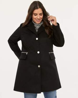 Penningtons Black Coat with Front Zippers - In Every Story