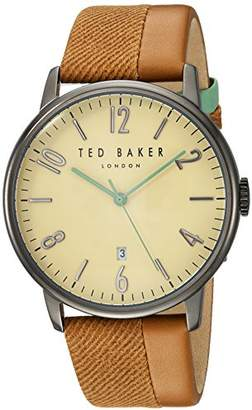 Ted Baker Men's Analog Japanese-Quartz Watch with Leather Strap 10031573