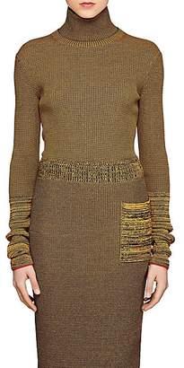 Victoria Beckham Women's Compact Knit Turtleneck Top - Amber-Navy
