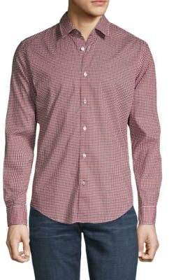 HUGO BOSS Long-Sleeve Printed Button-Down Shirt