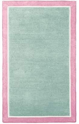 Pottery Barn Teen Capel Border Rug, 5'x8', Green Mist/Pale Pink