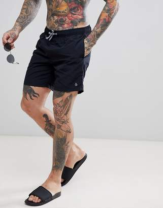 Original Penguin Swim Shorts Slim Fit Small Logo in Black