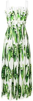 Dolce & Gabbana pea printed dress