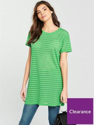 Very Boyfriend Panel Tunic - Green