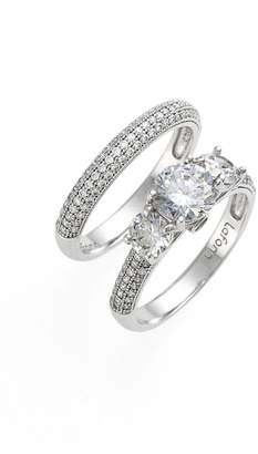 Lafonn 'Lassaire' Engagement Ring and Band (Set of 2)