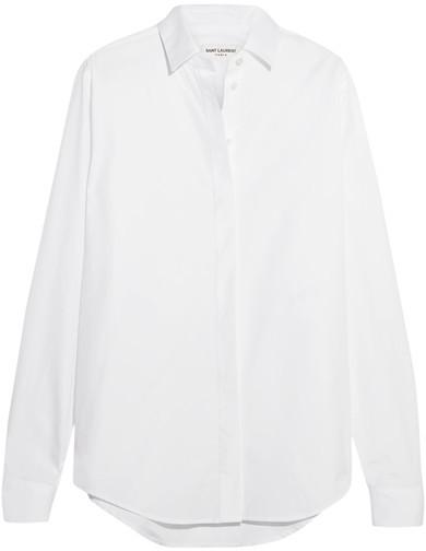 Saint LaurentSaint Laurent - Cotton-poplin Shirt - White