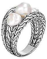 John Hardy Women's Classic Chain Sterling Silver & Freshwater Pearl Ring