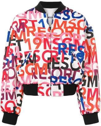 MSGM logo bomber jacket