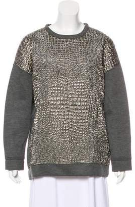 Moncler Metallic Pullover Sweater