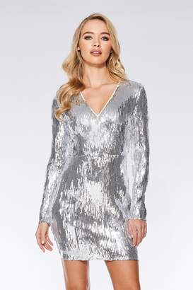 72886a95 Silver Gold Sequin Dress - ShopStyle UK