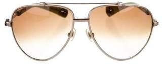 Chrome Hearts Stoned Aviator Sunglasses
