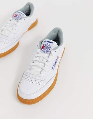 acb636354b9ed Reebok Club C 85 sneakers with gum sole in white