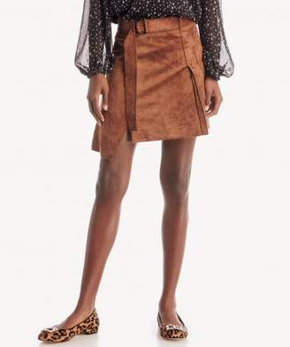 Sole Society Pleated Front A-Line Mini Skirt