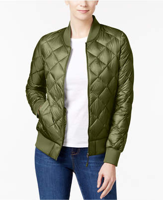Womens Quilted Olive Jacket Shopstyle