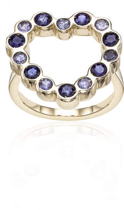 Parker Hi June Jewelry New York Tanzanite & Blue Sapphire Heart Ring
