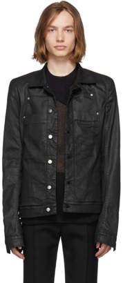 Rick Owens Black Denim Xtreme Lab Jacket