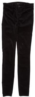 J Brand Velvet Mid-Rise Jeans