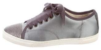 Lanvin Satin Lace-Up Sneakers