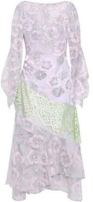 Peter Pilotto Color-block Metallic Lace Dress