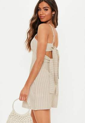 Missguided Tie Back Cami Shift Dress