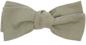 Comme Les Loups - Camden Cotton Twill Bow Tie - Mens - Green