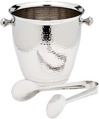 Godinger Hammered Ice Bucket With Tongs