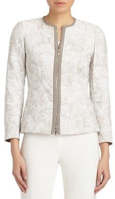 Women's Lafayette 148 New York Damien Plantain Jacquard Jacket $548 thestylecure.com