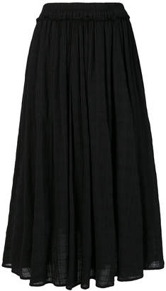Raquel Allegra flared midi skirt