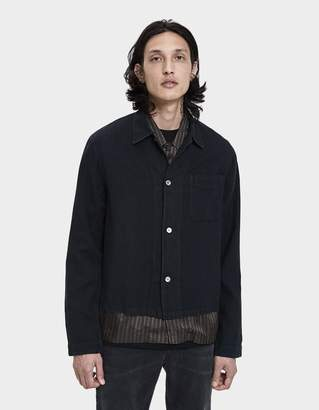 Our Legacy Shrunken Button Up Shirt in Wrinkle Madras Black