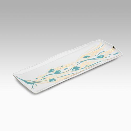 New Arcadia Studio Porcelain Peacock Platter