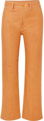 Simon Miller W012 High-rise Straight-leg Jeans - Orange