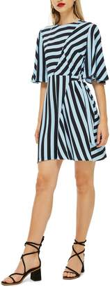 Topshop Diagonal Stripe Minidress