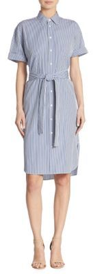 Polo Ralph Lauren Striped Cotton Shirtdress $165 thestylecure.com