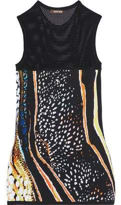 Roberto Cavalli Open And Jacquard-Knit Top