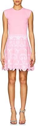 Versace Women's Baroque-Print Compact-Knit A-Line Dress - Pink