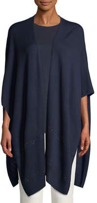 St. John Merino Wool Jacquard Knit Wrap w/ Sequins