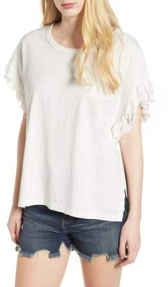 Current/Elliott The Recrafted Ruffle Tee