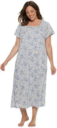Croft & Barrow Plus Size Pintuck Nightgown