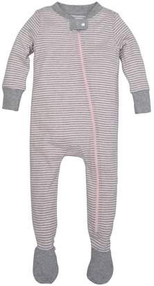 Burt's Bees Classic Stripe Organic Baby Zip Up Footed Pajamas