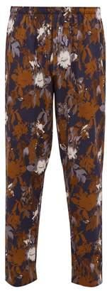 Zimmerli Light Magic Floral Print Cotton Pyjama Trousers - Mens - Navy Multi